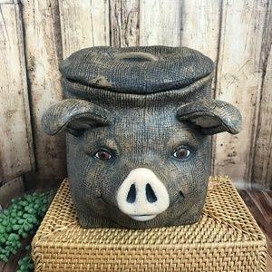 Ceramic Pig Cookie Jar
